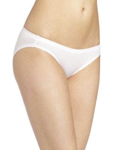 - Maidenform Womens Comfort Devotion Bikini Panty, White, 5