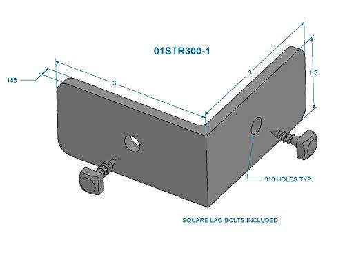 Designs of Distinction 01STR300GR1 3'' Apex Strap with Pyramid Screws 3'' Decorative, 3''-Large, Gun Metal Grey by Designs of Distinction (Image #7)