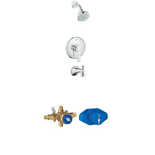 Parkfield Single-Handle 4-Spray Tub and Shower Faucet  Combination with Grohsafe Universal Pressure Balance Rough-In Valve (Handle Universal Single)