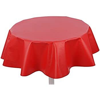 Yourtablecloth Heavy Duty Flannel Backed Round Vinyl Tablecloth U2013 6 Gauge  Thickness, Indoor And Outdoor