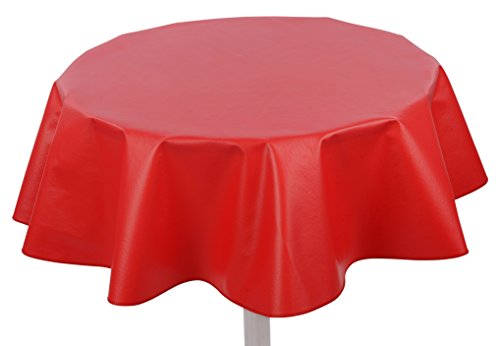 Yourtablecloth Heavy Duty Flannel Backed Round Vinyl Tablecloth - 6 Gauge Thickness, Indoor and Outdoor & Easy to Clean 60