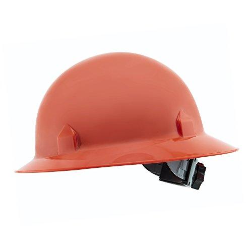 Jackson Safety Blockhead Full Brim Hard Hat (20701), 360-Degree Brim, 8-Point Ratchet Suspension, Orange, 12/ - Hat Hard Blockhead