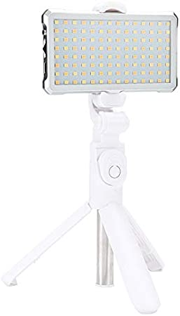F12 Pocket 112 LEDs 1080LUX Professional Vlogging Photography Video /& Photo Studio Light with OLED Display for Canon//Nikon DSLR Cameras White Premium Quality Color : White
