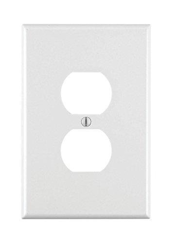 Leviton 001-88103-W Single Gang White Duplex Receptacle Wallplate - 10 Pack