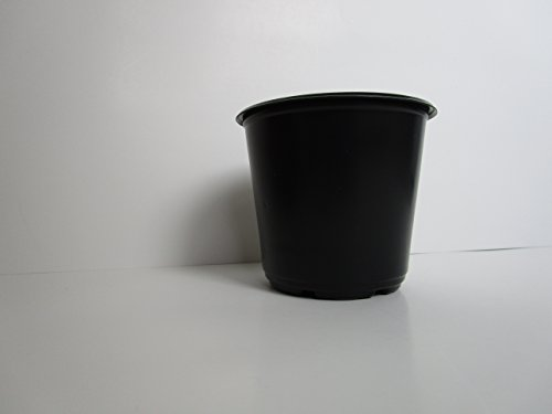 4'' Diameter Black Plastic Nursery Pots (825) by Landmark Plastics