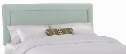 Skyline Furniture Addison Queen Velvet-Upholstered Border Headboard, Pool