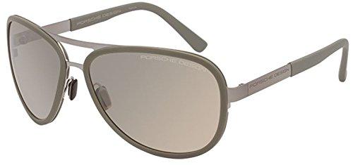 Porsche Design Design P8567 D Titanium Sunglasses | Olive Gunmetal Frame | Brown - Cheap Porsche Sunglasses