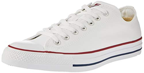 - Converse Unisex Chuck Taylor All Star Low Top Optical White Sneakers - 6.5 Men = 8.5 Women