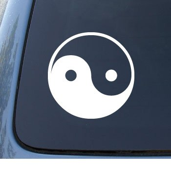 Express Dual Notebook (YIN & YANG - Asian - Car, Truck, Notebook, Vinyl Decal Sticker #1040 | Vinyl Color: White)