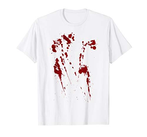 White T Shirt Halloween Blood (Halloween Blood Splatter Costume)