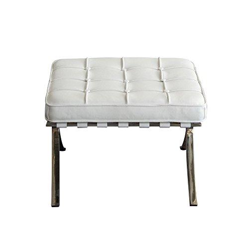 Cordoba Storage Ottoman - Diamond Sofa Cordoba Tufted Ottoman in White