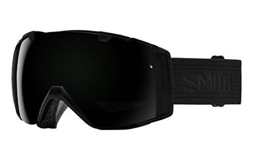 Smith Optics Mens IO Goggles, Black / Black/Blackout Red Sensor Mirror - OS by Smith
