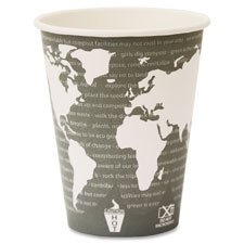 Hot Cup, 8oz., 50/PK, World Art/Maroon, Sold as 1 Carton