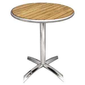 Bolero Flip Top Table Ash 600mm   Heavy Duty Commercial Cafe Bistro  Restaurant Hotel Bar Pub