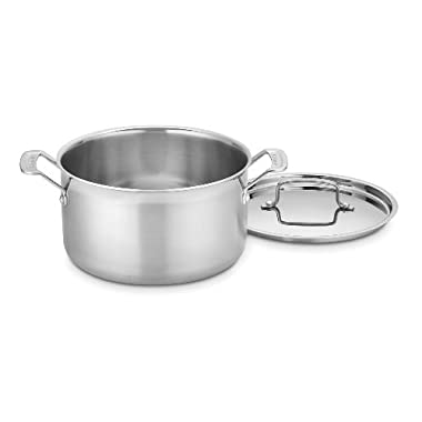 Cuisinart MCP44-24N MultiClad Pro Stainless 6-Quart Saucepot with Cover