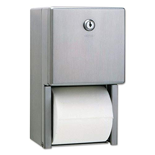 BOB2888 - Stainless Steel Two-Roll Tissue - Toilet Stainless Paper Dispenser Steel