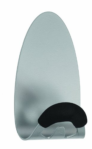 Alba Magnetic Coat Hook with Foam Pad, Metallic Silver (PMMAG)