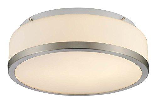 Transitional Ceiling Fixture (Chloe-Lighting CH23018BN13-CF2 Balwin Transitional 2-Light Flushmount Ceiling Fixture, 12-3/4