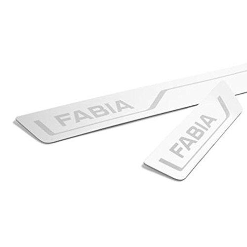 Skoda 6V0071303A Einstiegsleisten Set 4X Leisten v+h Edelstahl mit Fabia Schriftzug
