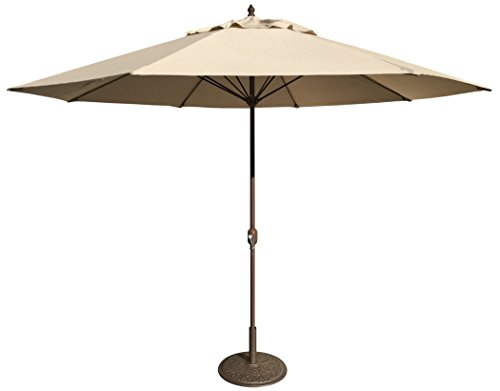(Tropishade 11' Umbrella with Premium Beige Olefin)