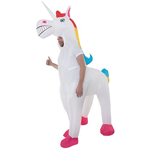 Adult Unicorn Inflatable Costume Magic Horse Fancy Dress Up Mens Womens Costumes -