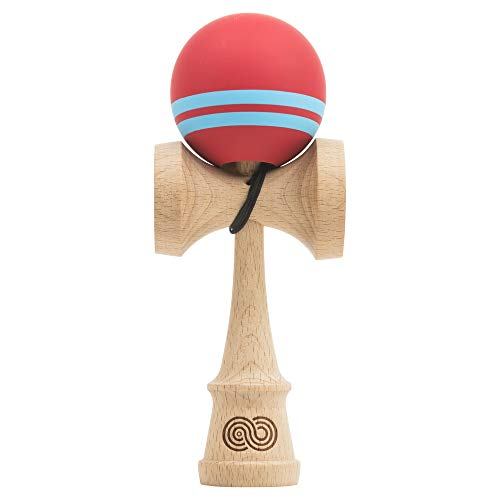 Kendama USA - Kaizen - Flip Series - Silk - Fire - Red | Extra String Included