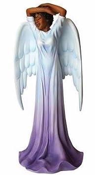 African American Expressions – Diva Angel Polyresin Figurine 4.1 x 3.5 x 8.6 FAN-01, Purple