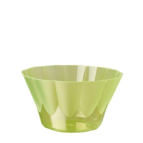 Papstar 12170 66-Eis- und Dessertbecher, PS rund 300 ml, Durchmesser 11 - 6.5 cm 'Royal', hellgrün (66er pack)