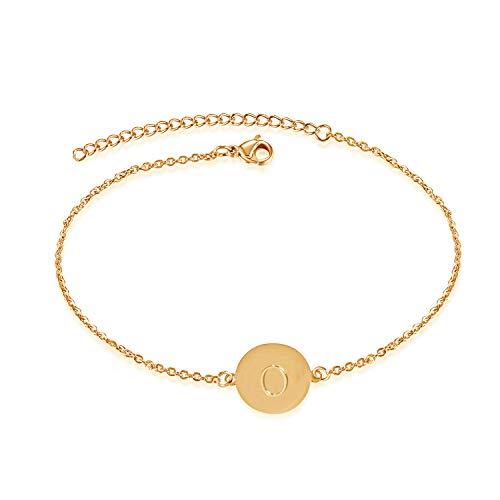 Bifriend A-Z Initial Anklet Letter Bracelet for Women Girls Letter Bracelet Adjustable Charm 26 Letter Chain (O) ()