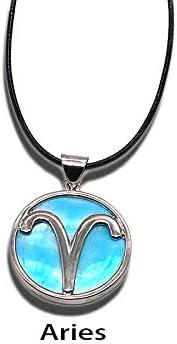 MXWY Halsketten Männer Und Frauen Accessoires Modeschmuck 12 Konstellation Natürliche Shell Zubehör Pop Anhänger Paar Geschenk