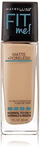 Maybelline New York Fit Me Matte Plus Poreless Foundation Makeup, Classic Ivory, 1 Fluid Ounce