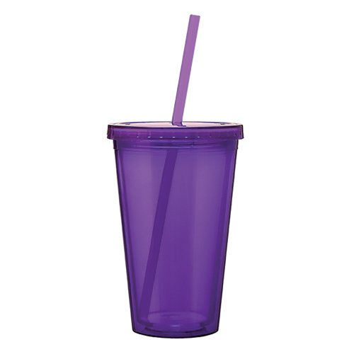 (Eco To Go Cold Drink Tumbler - Double Wall -16oz. Capacity - Purple)