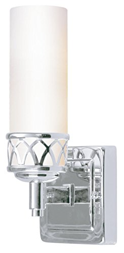 Livex Lighting 4721-05 Bath Vanity with Hand Blown Satin White Glass Shades, Chrome