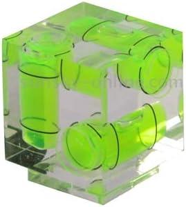 Green JINYANG JINYANG Accessory Triple Axis Bubble Spirit Level on Camera Hot Shoe 3D