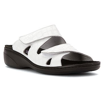 Helle Fashion Comfort WOMEN's Jaina White 2 Velcro Slide Size 42