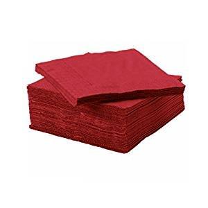 Dark Red Dessert Paper Napkins (50-ct. (Cranberry Paper)