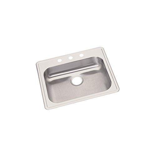Elkay GE125211 Dayton Single Bowl Drop-in Stainless Steel Sink