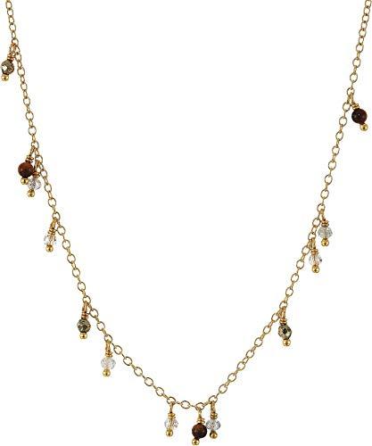 Chan Luu Women's Short Dangle Necklace Tigers Eye Mix One Size