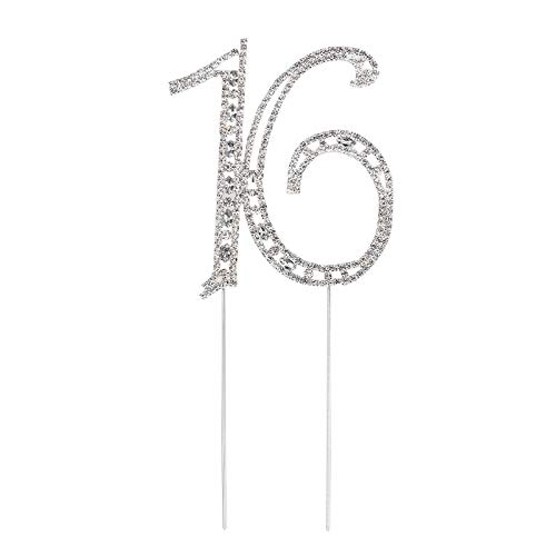 (Bingo Point Decorated Cake Topper for 16th Cake Topper Number Crystal Birthday Party Decorations s)