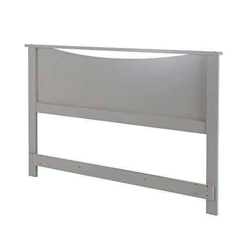 South Shore Step One Headboard, Full/Queen 54/60-Inch, Soft Gray