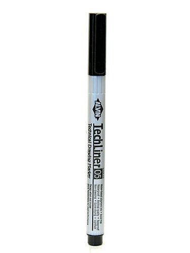 Alvin Tech-Liner Superpoint Drawing Pen/Marker 0.5 mm each [PACK OF 10 ] ()