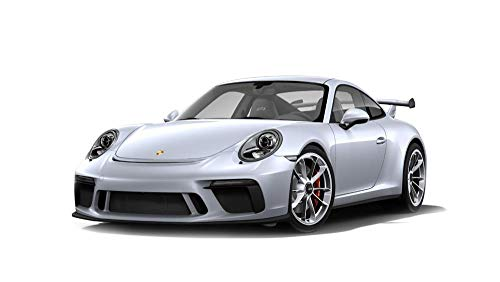 2017 Porsche 911 GT3 Silver with Silver Wheels Exclusive for Minichamps North America Limited Edition to 299 Pieces Worldwide 1/18 Diecast Model Car by Minichamps 113067024