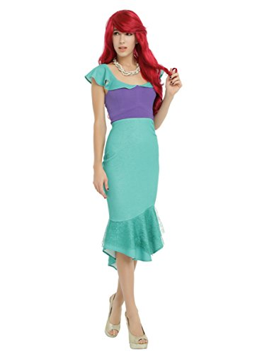 Disney The Little Mermaid Ariel Cosplay Ruffle Dress, (Hot Topic Disney Costumes)
