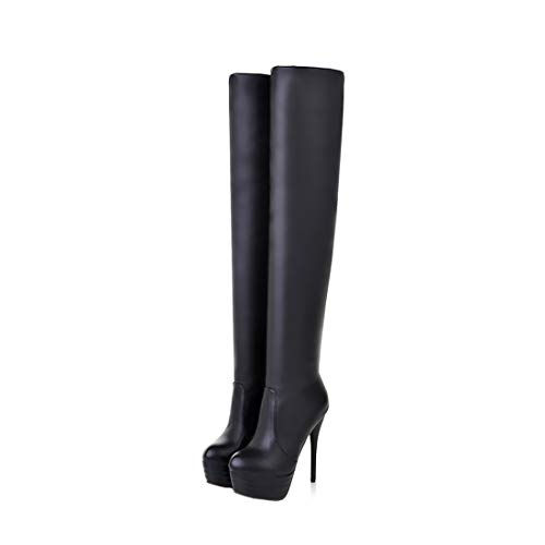 Womens Over Knee Thigh High Heel Stretch Boots Pointed Toe