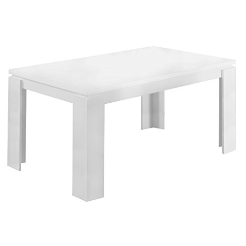 Monarch Specialties I 1056, Dining Table, White Hollow-Core, 60″L