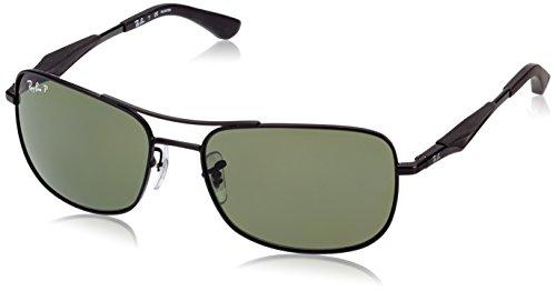 006 Ban MATTE Ray sol de 9A Gafas 58 BLACK RB3515 fX6Aa
