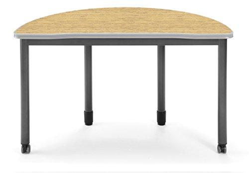 OFM 66180-OAK Mesa Series Half Round Table, 24