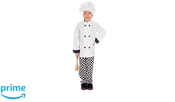 Fun Shack Blanco Chef Disfraz para Niños y Niñas - M: Amazon.es ...
