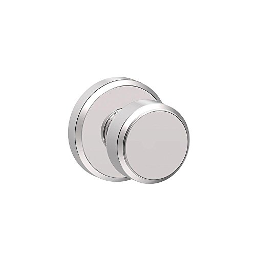 Bright Chrome Knob - Schlage F10 BWE 625 GSN Greyson Collection Bowery Passage Lock Knob, Bright Chrome