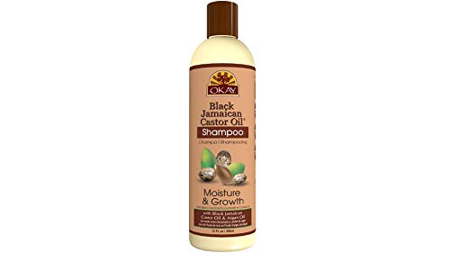 OKAY | Black Jamaican Castor Oil Shampoo | For All Hair Types & Textures | Repair - Moisturize - Grow Healthy Hair | with Argan Oil | Free Of Parabens, Silicones, Sulfates | 12 Oz
